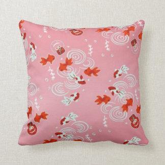 Mayumi Gumi Kawaii Kingyo (goldfish) Throw Pillow