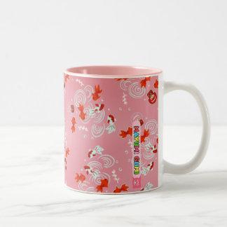 Mayumi Gumi Kawaii Kingyo (goldfish) Two-Tone Coffee Mug