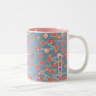 Mayumi Gumi Spring (Haru) 春 Matsuri 祭り Two-Tone Coffee Mug