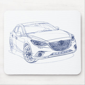 Maz 3 Sedan 2014 Mouse Pad