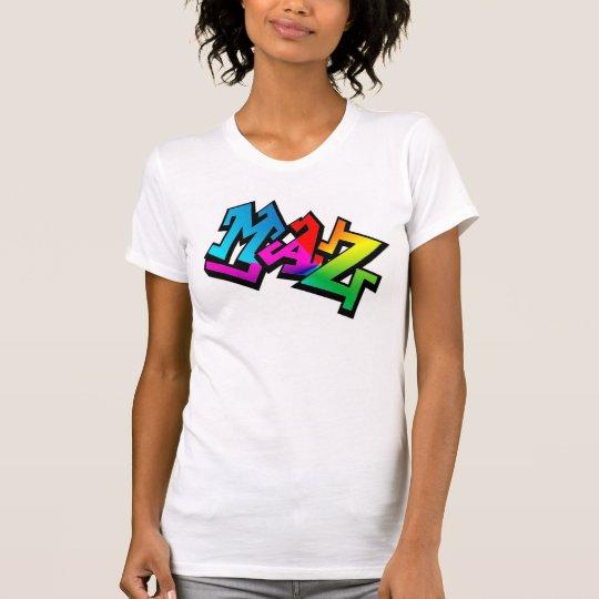 """Maz"" graphic womens racerback t-shirt"