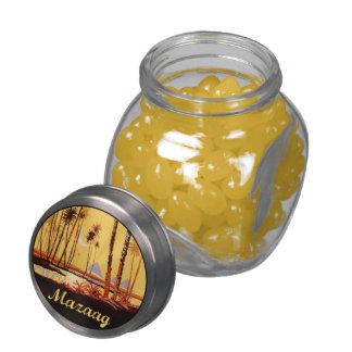 Mazaag Vintage Day Glass Candy Jars