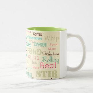 Mazarota de la panadería {taza} taza de café de dos colores