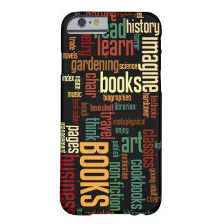 Mazarota de los aficionados a los libros en moho y funda de iPhone 6 barely there