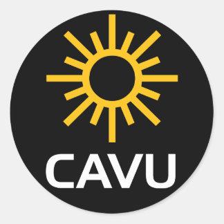 Mazarota soleada CAVU de la aviación Pegatina Redonda