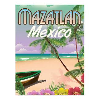 Mazatlan Beach Mexico Beach travel poster Postcard