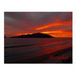 Mazatlan, Mexico ......   Blazing Sunset Post Card