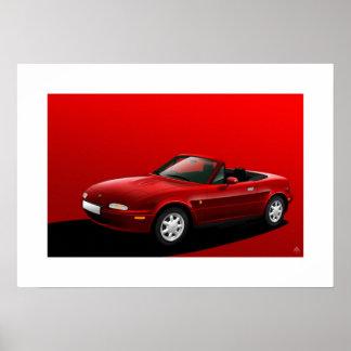 Mazda MX-5, Miata, automóvil descubierto de Eunos Póster