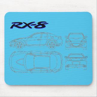 Mazda rx8 rx-8  blueprint print mouse pad