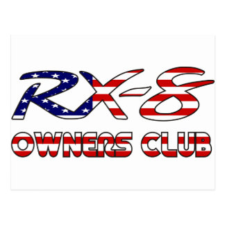 Mazda RX8 USA owners club Postcard