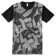 Maze Abstract All-Over Print T-shirt