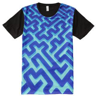 Maze Blue All-Over-Print T-Shirt