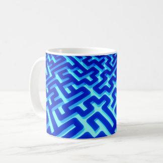Maze Blue Coffee Mug