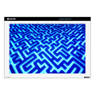 Maze Blue Decal For Laptop