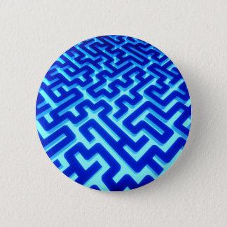 Maze Blue Pinback Button