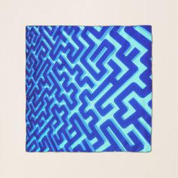 Maze Blue Scarf