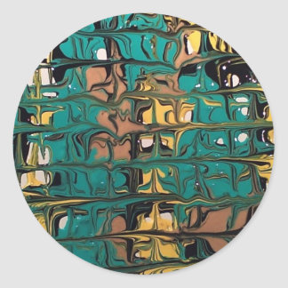 maze classic round sticker