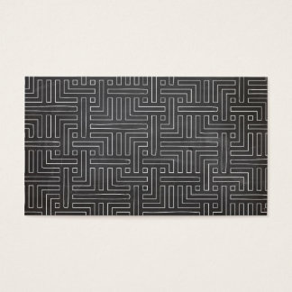 MAZE DRAWING in WHITE on BLACK CHALKBOARD Business Card