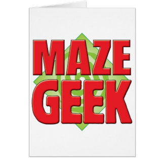 Maze Geek v2 Greeting Cards