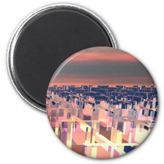 Maze of Addition 2 Inch Round Magnet