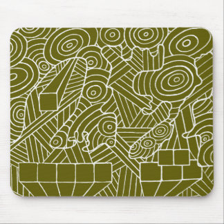 Maze of map mousemat with cute doodle design mouse pad