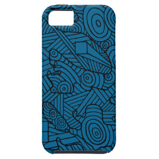 Maze of map. phone case with cute doodle pattern