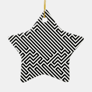 Maze Double-Sided Star Ceramic Christmas Ornament