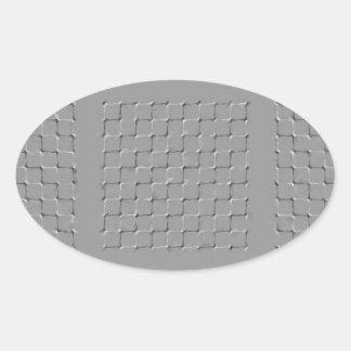 maze oval sticker
