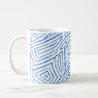 'Maze' Pattern Coffee Mug mug