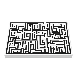 Maze Premium Wrapped Canvas Poster
