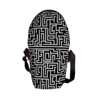 Maze Rickshaw Messenger Bag Black