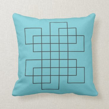 Beach Themed Maze Robins Egg Blue Throw Pillow
