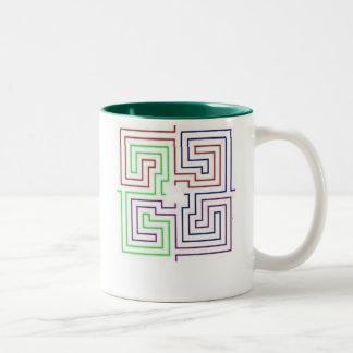 maze Two-Tone coffee mug