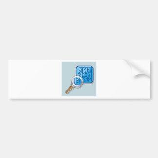 Maze under Magnifying Glass vector Bumper Sticker