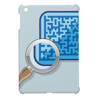 Maze under Magnifying Glass vector Case For The iPad Mini