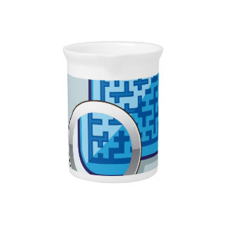 Maze under Magnifying Glass vector Drink Pitcher