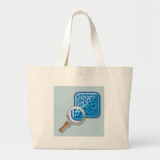 Maze under Magnifying Glass vector Large Tote Bag