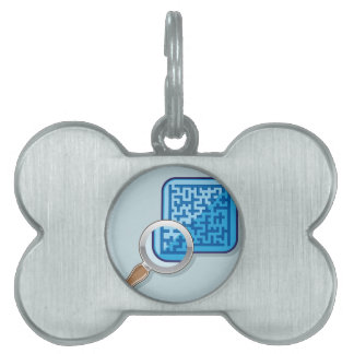 Maze under Magnifying Glass vector Pet ID Tag