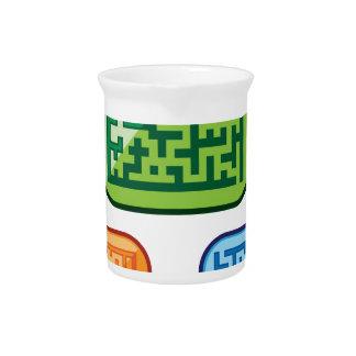 Maze vector pitcher