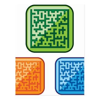 Maze vector postcard