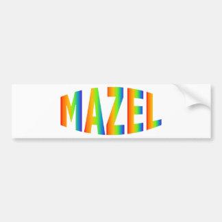 MAZEL CAR BUMPER STICKER
