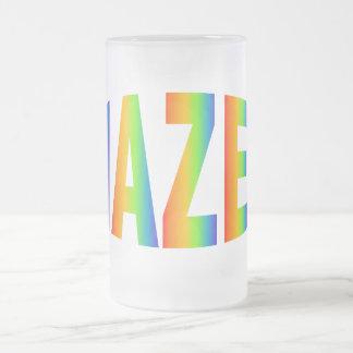 MAZEL FROSTED GLASS BEER MUG