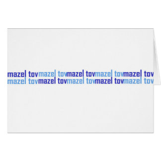 Mazel Tov (Blues) Card