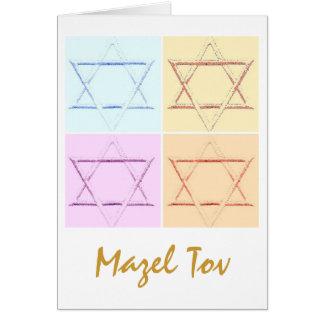 Mazel Tov/buena suerte Tarjeta De Felicitación