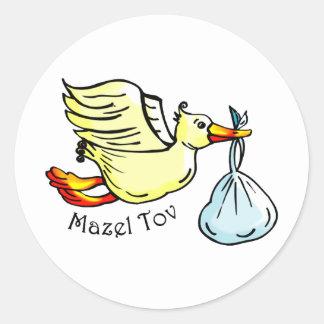 Mazel Tov Classic Round Sticker