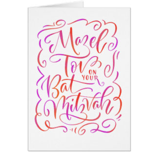 Mazel Tov for Bat Mitzvah Greeting Card