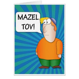 Mazel Tov Greeting Card - Jewish Boy cartoon