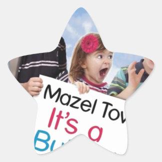 """Mazel Tov! It's a Bubby!"" book cover apparel Star Sticker"