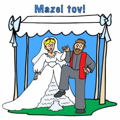 Mazel Tov Jewish Wedding Keychain Photo Cutout by Aquavel