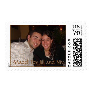 Mazel Tov Jill and Niv Postage